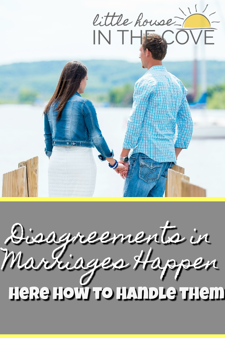 Disagreements in marriages are going to happen. How we chose to handle those disagreements is what causes growth or destruction.