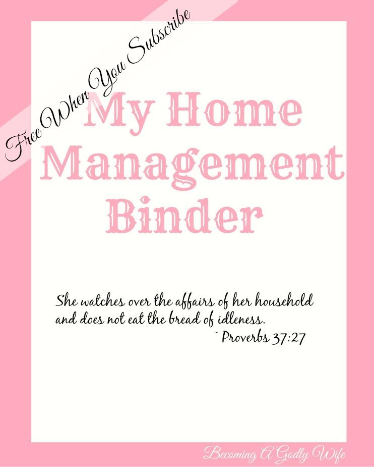 The Home Management Binder Freebie