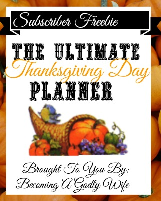 The Ultimate Thanksgiving Planner Freebie