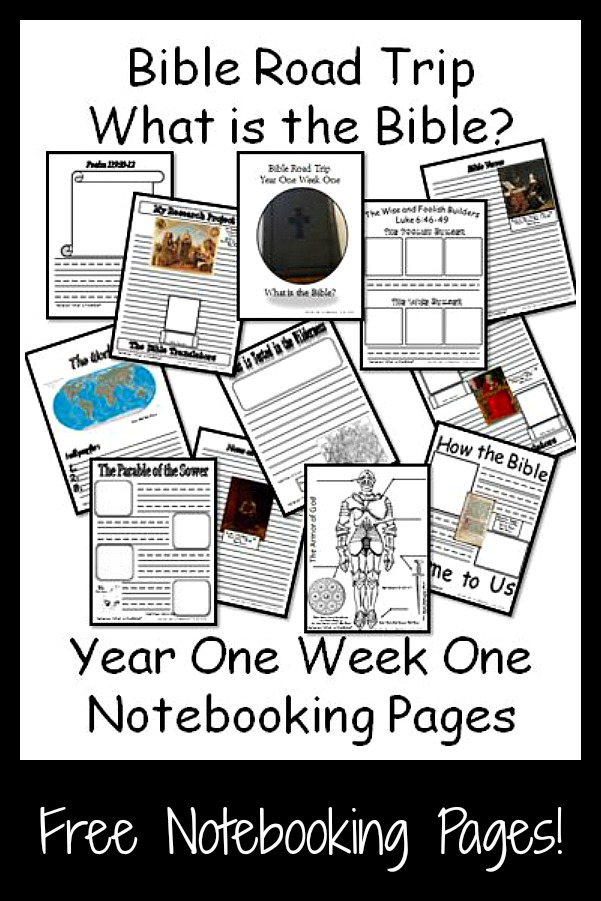 ***Free***Bible Road Trip Notebooking Pages
