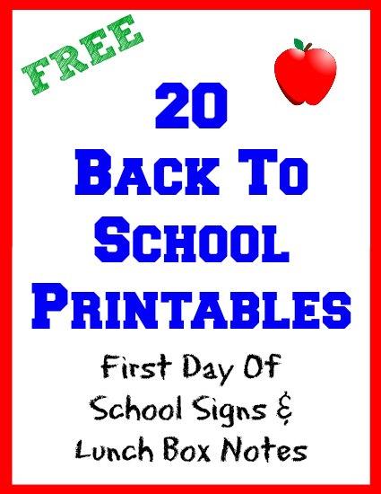 ***Free*** Back to School Printables