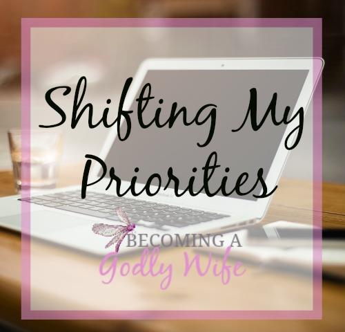 Shifting My Priorities