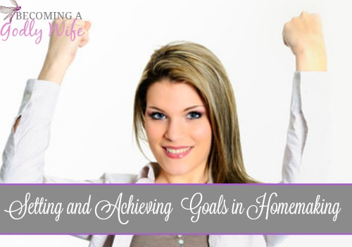 Setting and Achieving  Goals in Homemaking