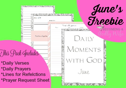Daily Moments with God- June