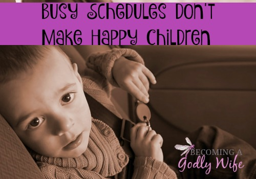 Busy Schedules Don't Make Happy Children