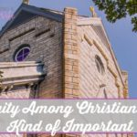 Unity Among Christians is Kind of Important