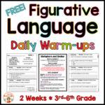 Figurative Language Warm-Up FREE – Similes and Metaphors