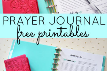 PRAYER JOURNAL FREE PRINTABLES