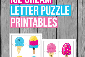 Ice Cream Letter Puzzle Printables