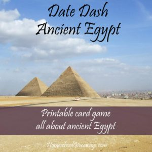 I love history. My children not so much. So anytime I can find a resource that will make history fun for them I am all for it. This Ancient Egypt card game just may be the trick for helping my little guys and yours retain some of the amazing facts about Egypt!