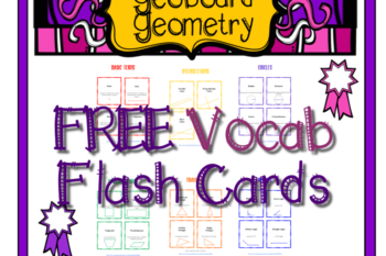Geometry Vocabulary Flash Cards