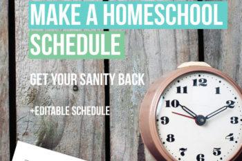 Free Editable Homeschooling Schedule