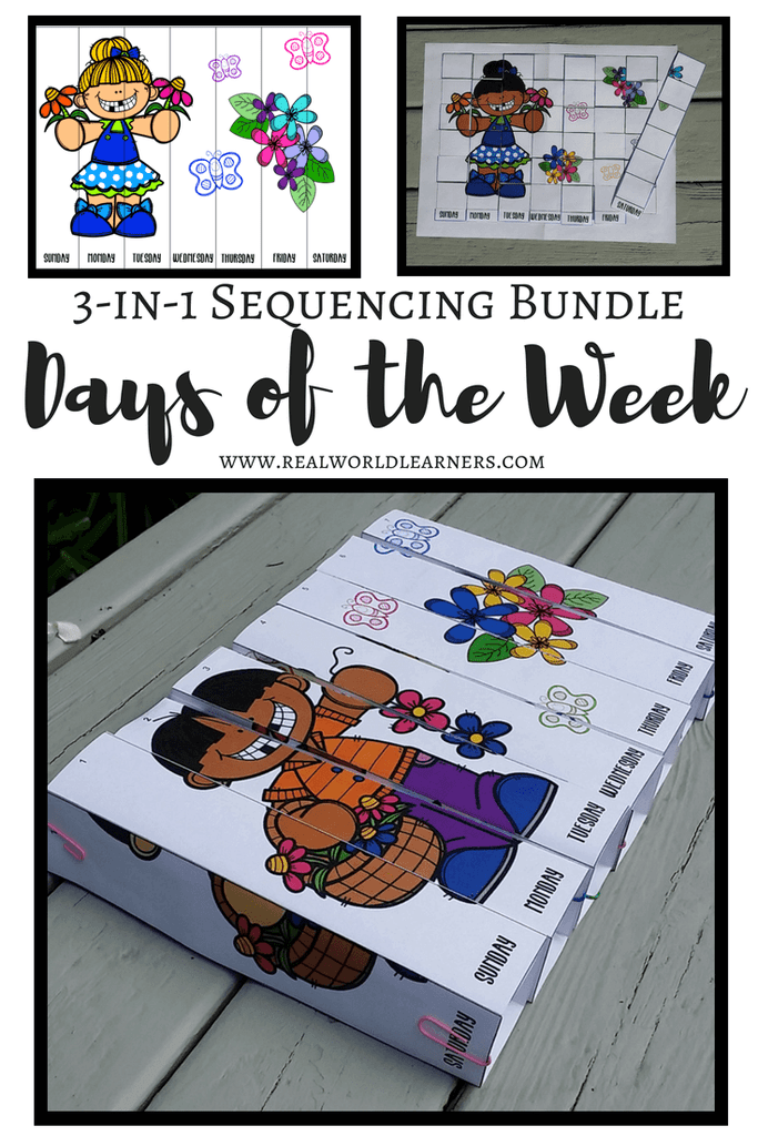 In this Days of the Week Bundle Packet, your children will do more than just learn their days of the week. Included are various activitiesto help challenge your child while building fine motor skills, logic skills and more!