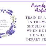 Proverbs 22:6 Printable Scripture