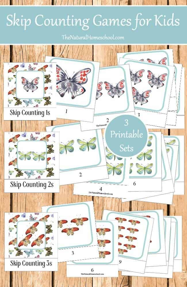 Everyone knows that children learn best through play, so The Natural Homeschool made learning fun with these Montessori-inspired 3-part cards. They are the perfect way to learn skip counting for kids because they are fun and easy to use because of their control of error.