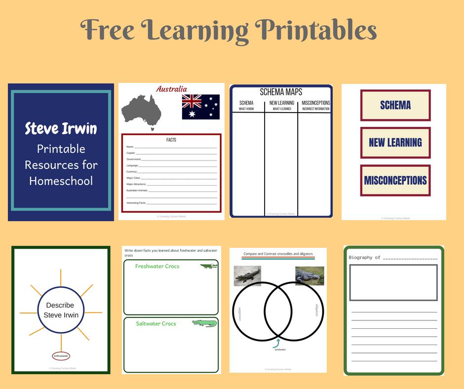 Steve Irwin Learning Pack