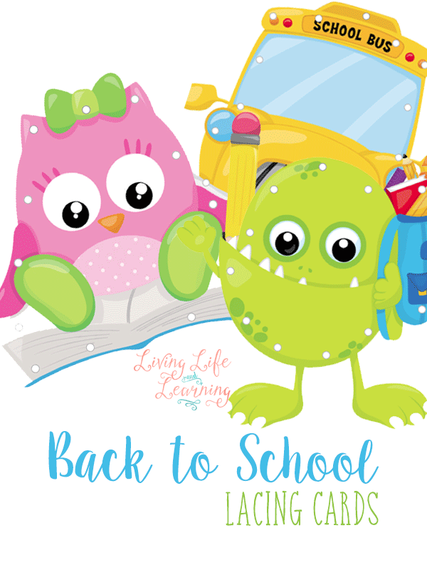 TheseBack to School Lacing Cards are a perfect addition to your homeschool manipulative collection! Not only are they cute but your children will enjoy practicing their hand and eye coordination while gearing up for the new school year.
