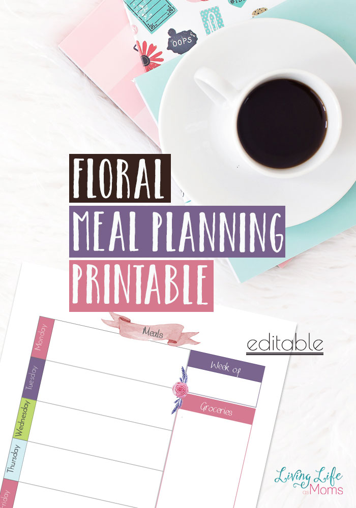 Floral Meal Planning Printables