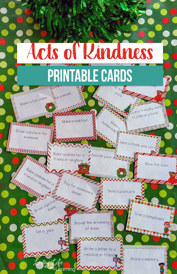 Teaching our children to perform random acts of kindness can seem like an impossible task. However, all they really need is to have the chance to get into the habit of doing so. That is how these cards can help. These act of kindness cards will help your child come up with nice tasks and encourage them to strive to do even more things!