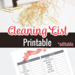 Cleaning List Printable