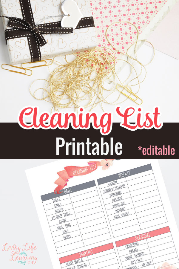 Cleaning is one thing that not many enjoy doing. However, if there is a plan in place then it really isn't so bad. This editable printable can help you to get that plan in place!