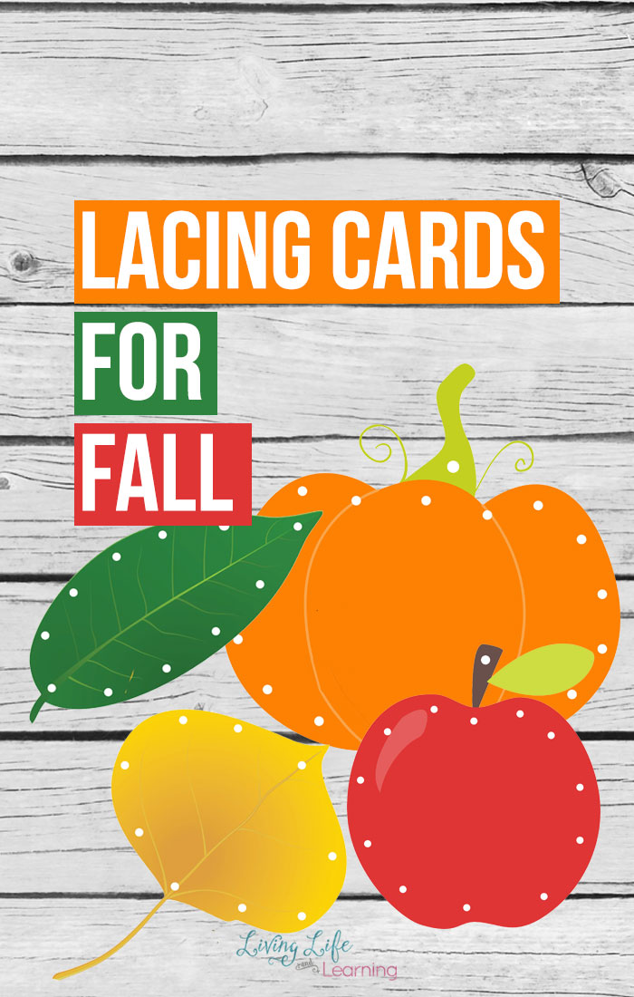 Lacing cards are an amazing way to work on fine motor skills and hand-eye coordination. These fall-themed lacing cards will help keep your children excited about practicing these skills!