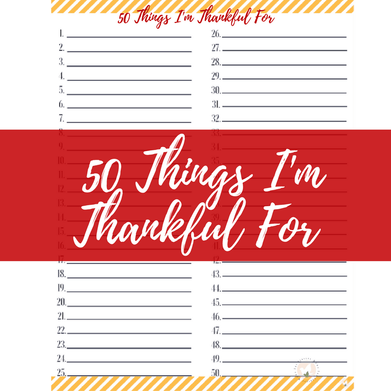 It is so easy for our children )and ourselves) to forget all the things that we have to be thankful for. However, when you begin to make a list a lot of times you can fill up a whole sheet and never even hit the tip of the iceberg.  Here is a great printable to help you and your children count those blessing!