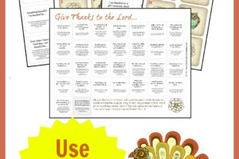 Thanksgiving Calendar Set Focusing on Gratitude