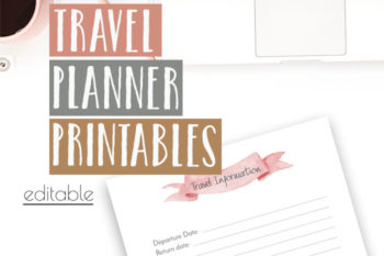 Free Travel Planner Printable